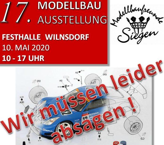 Absage Modellbauausstellung Wilnsdorf 2020