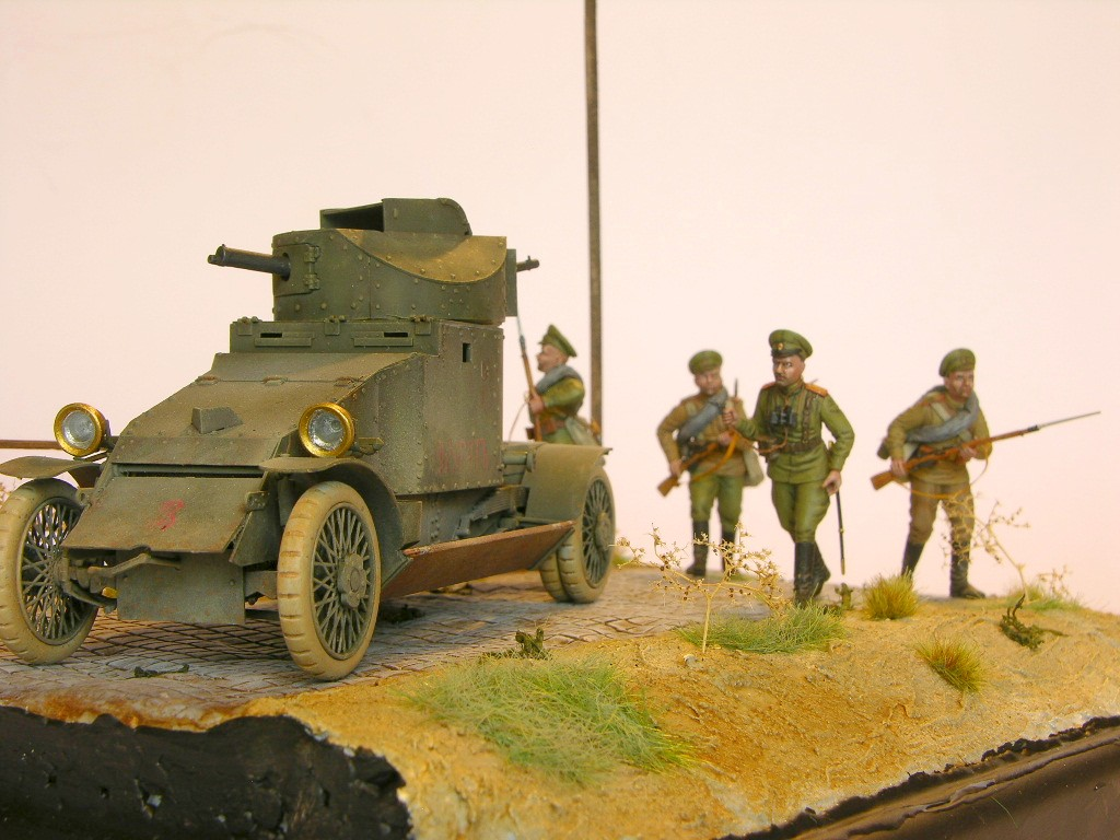 Andreas Marting / Dio WKI Lanchester russ. Infanterie / 1:35 / Copper State Models, ICM