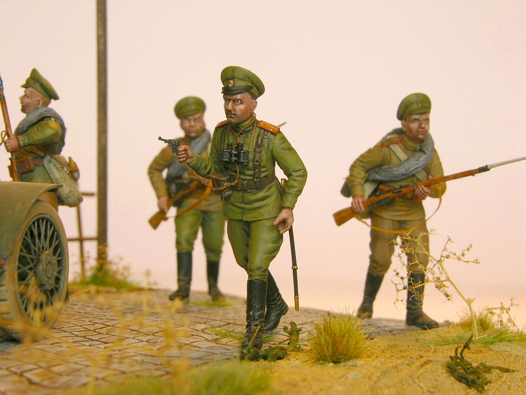 Andreas Marting / Dio WKI Lanchester russ. Infanterie / 1:35 / Copper State Models, ICM / 1